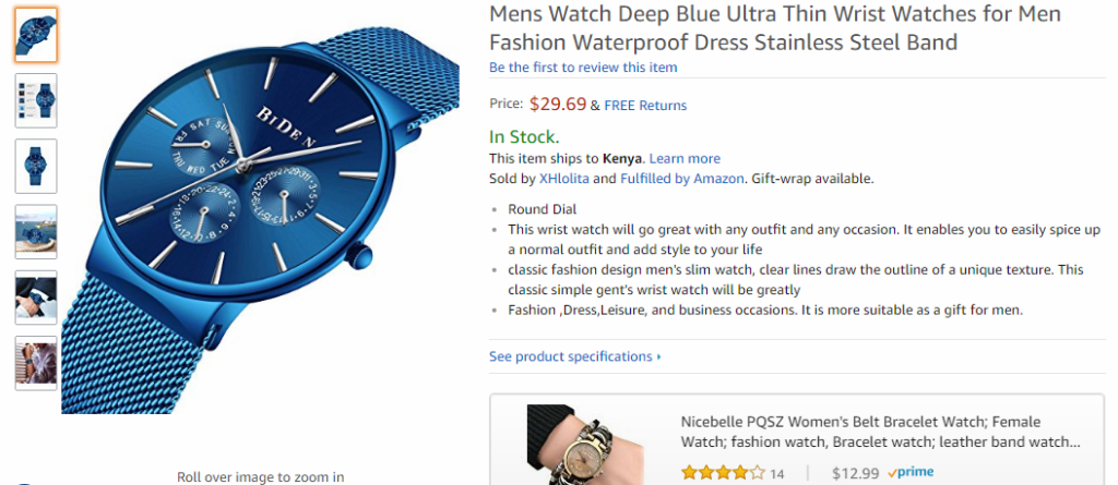 A nicer looking flat watch with four stars selling on Amazon for $30