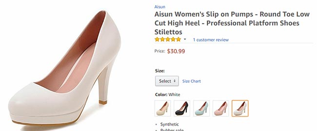 women's footwear on Amazon