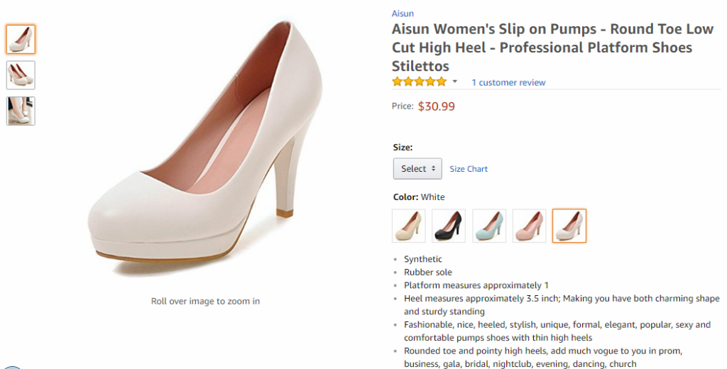 Similar glossy pink high heels on Amazon selling for $31