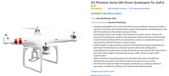 quadcopter from DJI